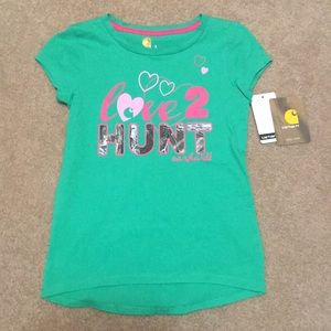 Carhartt, Love 2 Hunt T-shirt, Size 6